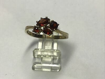 AU165 • Buy 9ct Gold Cluster Garnet Ring