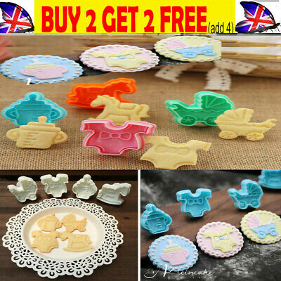 £5.57 • Buy 4-20pcs Baby Shower Clothes Cookies Plunger Cutter Mould Fondant Cake Biscuit