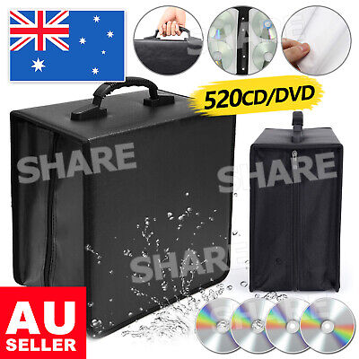 AU18.95 • Buy 520 Capacity Disc CD DVD Case Wallet Storage Holder Booklet Album Folder Bag Box