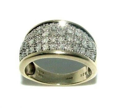 AU1267.97 • Buy Ladies Womens 9ct 9carat Gold & Diamond (1.00ct) Ring UK Size L