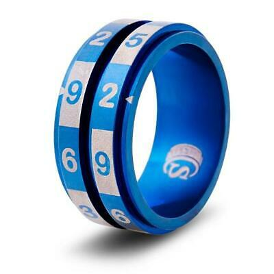 AU23.20 • Buy CritSuccess D100 Dice Ring Dice Ring - Blue, Size 9 (d100) New
