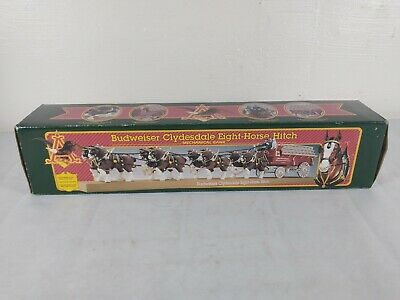 $ CDN96.72 • Buy 1995 Ertl Budweiser Clydesdale Eight Horse Hitch Bank