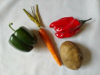 £5.66 • Buy Decor Artificial Food Vegetables Red Chili Pepper Potato Carrot Green Pepper