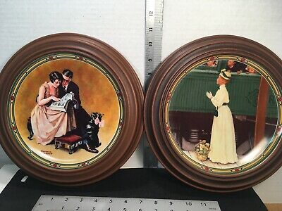 $ CDN24.90 • Buy NORMAN ROCKWELL COLLECTOR'S PLATES Couple's Commitment Mother's Welcome - Frames