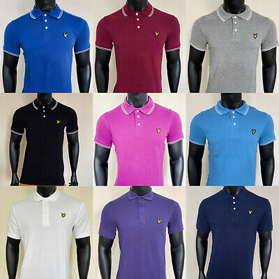 £13.99 • Buy Lyle & Scott Short Sleeve Polo T-shirt - Slim Fit Shirt All Colour And Sizes