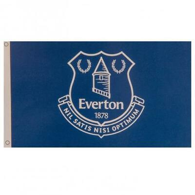 £8.89 • Buy Everton FC Official Crested Large Flag  (5ft X 3ft) With Metal Eyelets Toffees