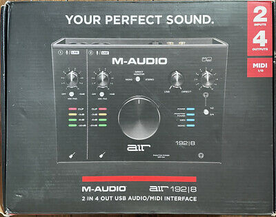 $190.99 • Buy M-Audio Air 192|8 2-In/4-Out 24/192 Audio Recording USB MIDI Interface
