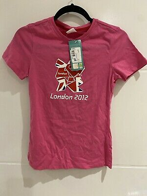 £20 • Buy Official London Olympics 2012 Merchandise - Pink T-Shirt - Size 10 - BRAND NEW