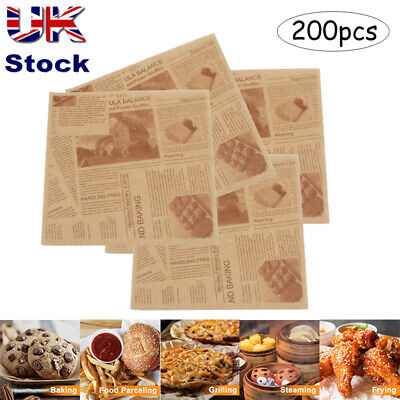 £7.59 • Buy 200Pcs Sandwich Wrap Parchment Paper Food Wrapping Cake Burgers Cookies Liners