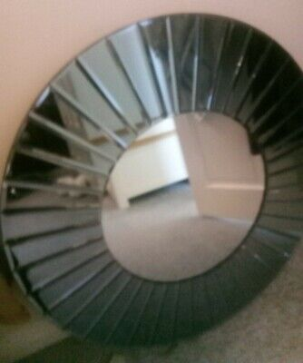 £60 • Buy Large Sunburst Round Wall Mirror Silver Glass Cash On Collection 65cm