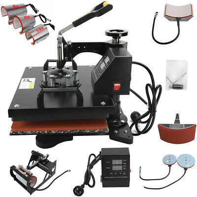 AU303.99 • Buy 8 In 1 High Heat Press Machine T-shirt Uniform Heating Transfer DIY Sublimation
