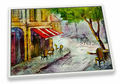 £34.99 • Buy French Cafe Street City CANVAS FLOATER FRAME Wall Art Print Picture