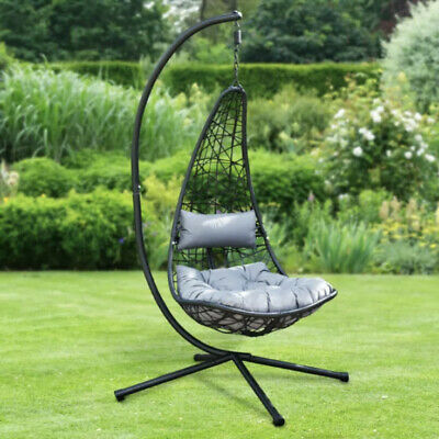 £239.99 • Buy New York Hanging Garden Swing Chair With Stand & Cushion ☀️Free Quick Delivery🚚