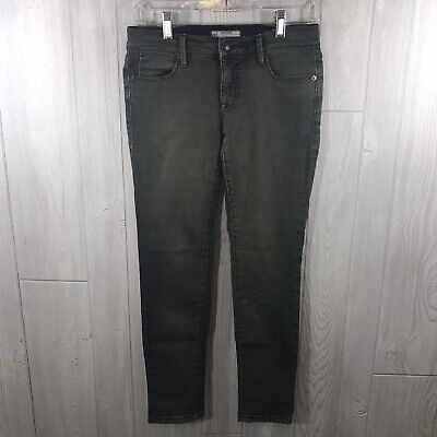 $19.99 • Buy Free People Green Skinny Distressed Mid Rise Stretchy Destroyed Ankle Jeans 0/25