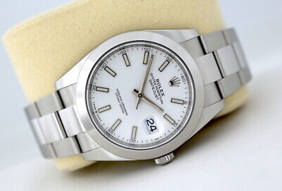 $ CDN11658.76 • Buy Rolex Datejust 41 126300 Automatic Watch White Dial (2020)
