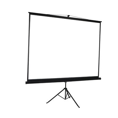 AU121.49 • Buy 100 Inch Projector Screen Tripod Stand Home Pull Down Outdoor Screens Cinema 3D