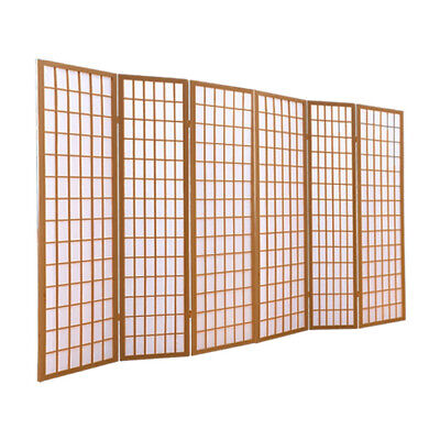 AU163.40 • Buy Levede 6 Panel Free Standing Foldable  Room Divider Privacy Screen Wood Frame