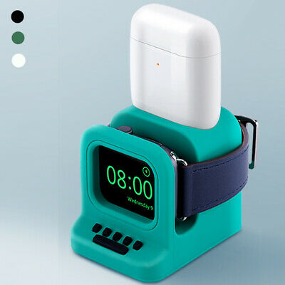 AU13.49 • Buy Mode Charging Base Charger Dock Stand Holder Silicone For Apple Watch  AirPods