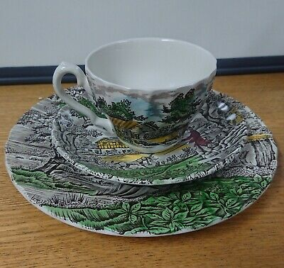 £10 • Buy The Hunter By Myott Set Single Cup, Single Saucer, 2 Serving Plates