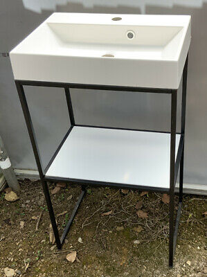 £85 • Buy Solo Cloakroom Sink And Stand With White Shelf  500x350 Brand New Old Stock