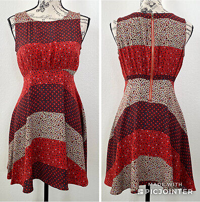 $31.99 • Buy Free People Mixed Print Skater Dress Size 0