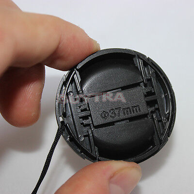 AU2.21 • Buy NEW DESIGN 37mm Center Pinch Snap On Front Cap Cover For Sony Lens Filter KQ.Z2