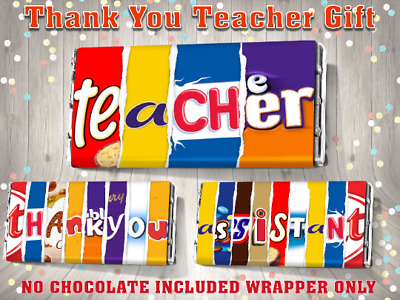 £2.35 • Buy Thank You Teacher Galaxy Chocolate Bar Wrapper End Of Term Gift Assistant
