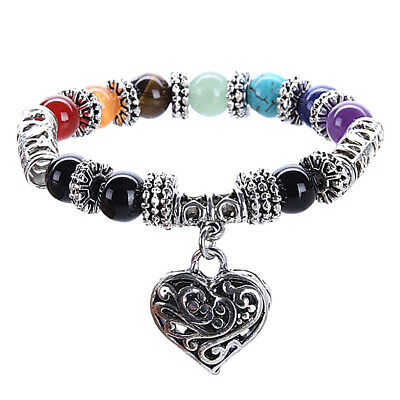 AU10.60 • Buy 7 Chakra Crystal Stones Bracelet Healing Beads Jewelry Natural Reiki Anxiety EH