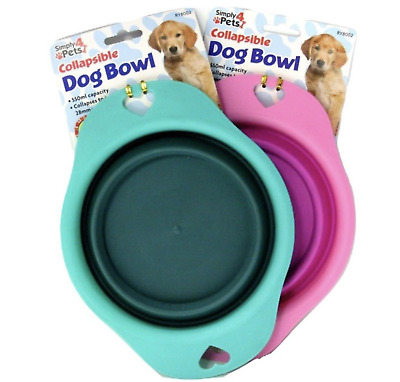 Collapsible Pet Cat Dog Bowl Feeder Portable Foldable Water Food Travel Bowls  • 2.99£