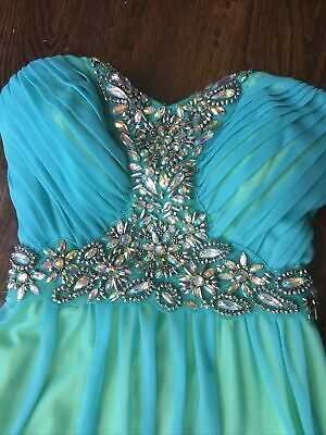 AU58.41 • Buy NWT  Way In Clothing  Beaded Dress, Teal, Size 1