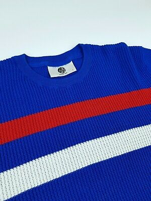 £49.99 • Buy Art Gallery Clothing Blue Waffle Knitted Top Large   Mod Skinhead Weller 60s Ivy