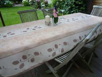 £30.23 • Buy Tablecloth Provence 150x350 CM Beige From France Easy-Care And Non-Iron