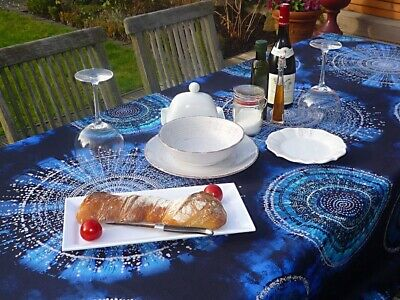 £26 • Buy Tablecloth Provence 150x300 CM Blue From France Easy-Care Non-Iron