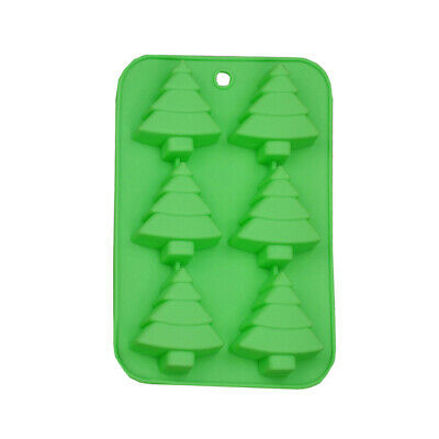 £4.02 • Buy Silicone Mold Christmas Tree Chocolate Mould Cake Soap Jelly Wax Baking Mold DIY