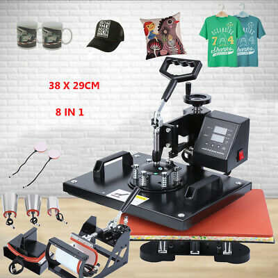 AU311.39 • Buy Ridgeyard Heat Press 15 X12  Digital Transfer Sublimation 8 In 1 T-Shirt Mug Hat