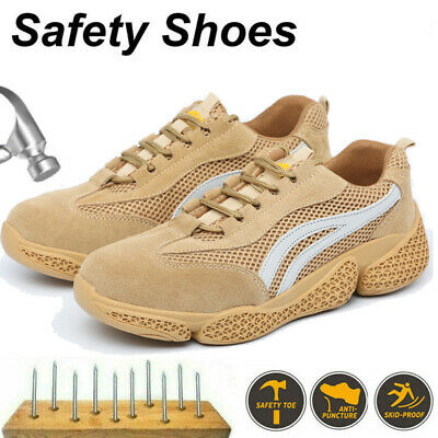 £18.99 • Buy Womens Safety Trainers Steel Toe Cap Work Shoes Summer Outdoor Sneaker Size 3-8
