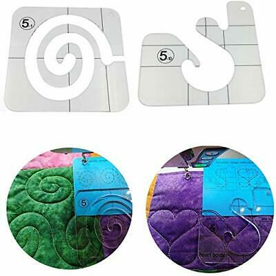 $14.86 • Buy Quilting Templates For Machine Quilting Heart Border And Swirl Quilt Template...