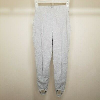 AU27.09 • Buy Vtg 80s 90s Forenza High Waist Stirrup Pants Leggings Riding Stretch Gray Knit