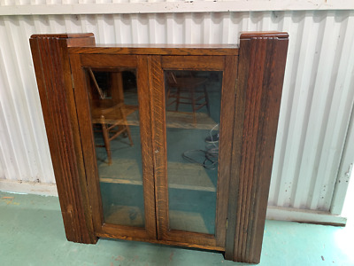 AU299 • Buy H17015 Vintage Oak Deco Bookshelf Display Cabinet China Cupboard Hallway