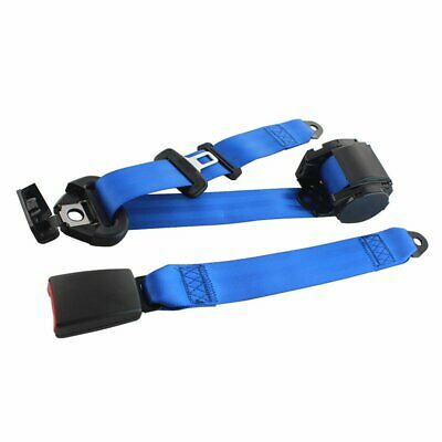 AU25.74 • Buy 1X Fits Chrysler 3 Point Harness Safety Seatbelt Retractable Blue Car Universal