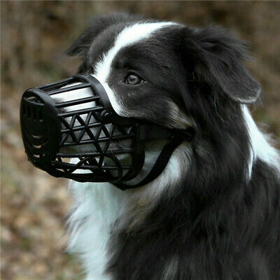 £4.50 • Buy 1x Dog Muzzle Basket Cage With Adjustable Straps For Pet Dogs Anti-biting UK
