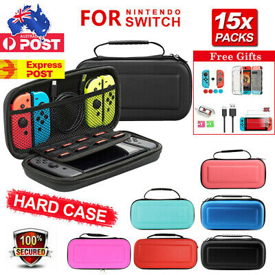 AU18.79 • Buy For Nintendo Switch Carry Case Bag Console Protector Shell Cover Tempered Glass