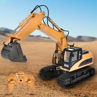 Remote Control Digger RC Toy Car 15 Channel Electronic Excavator Truck Kids Gift • 40.31£