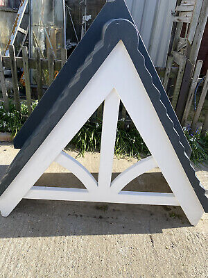 £185 • Buy GRP Front Door Porch Canopy Fibreglass Traditional Pitched Black Tile Effect