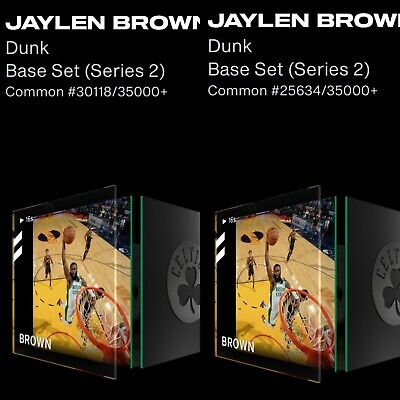 $40 • Buy NBA Topshot Top Shot Jaylen Brown Dunk #/35000+ Base Series 2 NFT Lot X2