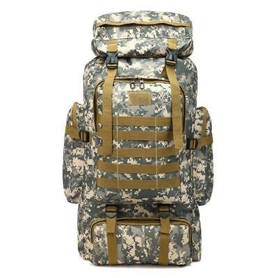 AU41.06 • Buy 80L Large Camo Rucksack Backpack Hiking Tactical Military Camping Survival Gear