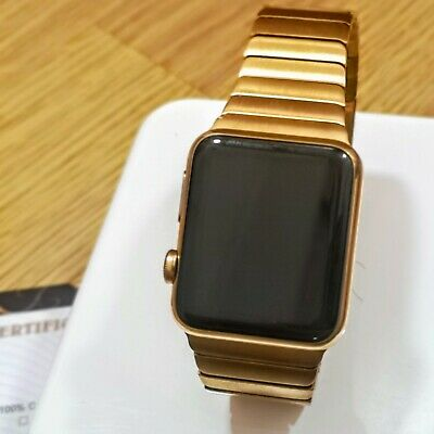$ CDN467.38 • Buy 24k Gold Plated Apple Watch Series 1 42mm With Butterfly Link Watch Strap 24ct