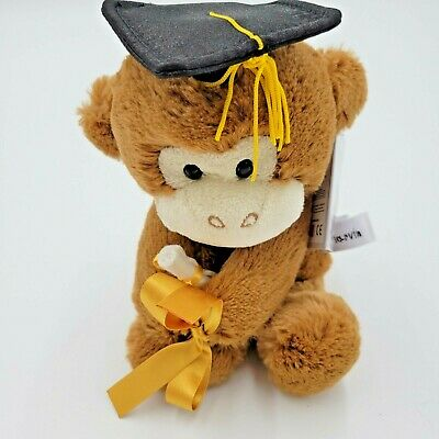 $ CDN22.96 • Buy Aurora 9  Monkey Graduation Cap & Diploma Vase Holder Stuffed Plush Bean Bag NEW
