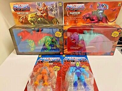 $99.88 • Buy Masters Of The Universe He-Man Battle Cat & Skeletor Panthor 4 Pc Set NEW
