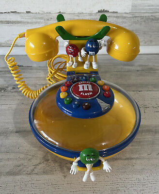 $22.50 • Buy VINTAGE Yellow M&M Talking Candy Dish Corded Telephone Phone Collectible